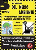 Ecologistas en Acción del Bierzo se adhiere a la convocatoria de concentración de Bierzo Aire Limpio (5/6/09).