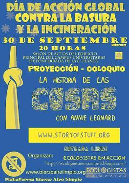"""Ecologistas en Acción presenta la película """"La historia de las cosas"""" (30/09/09)."""
