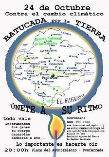 Ecologistas en Acción convoca una batucada contra el cambio climático (24/10/09).