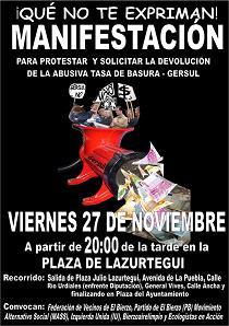 Ecologistas en Acción se suma a la convocatoria de manifestación contra la pésima gestión de los residuos de Gersul (27/11/09).